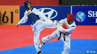 مسعود اسبقی سومین مدال طلای تکواندو را به گردن آویخت