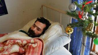 AIDS sufferer Bernard, a 39-year-old South African salesman, lays in his bed