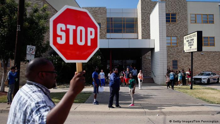 USA Ebola Patient Sam Tasby Middle School in Dallas
