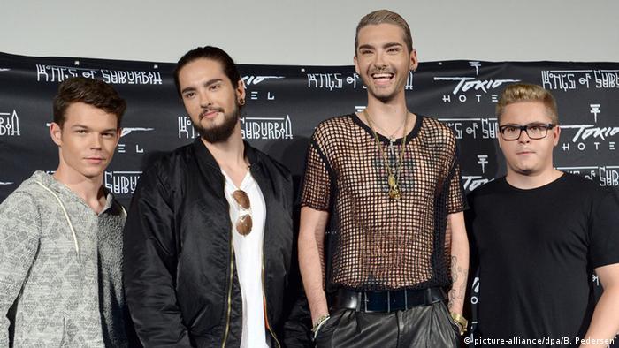 Die Musiker der Band Tokio Hotel