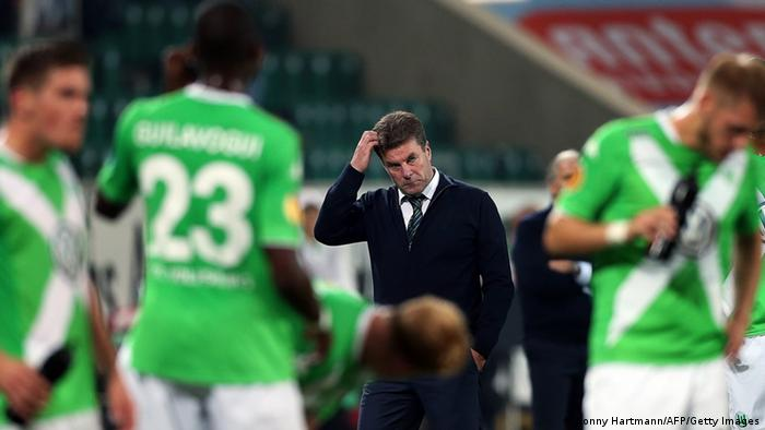 Europa League match Wolfsburg vs Lille