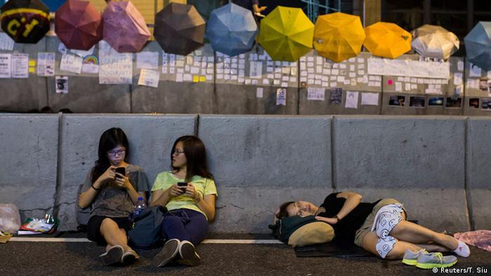 Proteste in Hongkong 03.10.2014