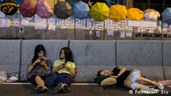 Proteste in Hongkong 03.10.2014