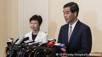 Hongkong Carrie Lam und Leung Chun Ying