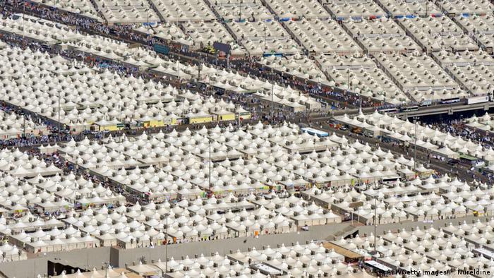 Tenda-tenda jemaah haji di Mina (AFP/Getty Images/F. Nureldine)