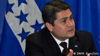 Juan Orlando Hernández (DW/M. Banchón)