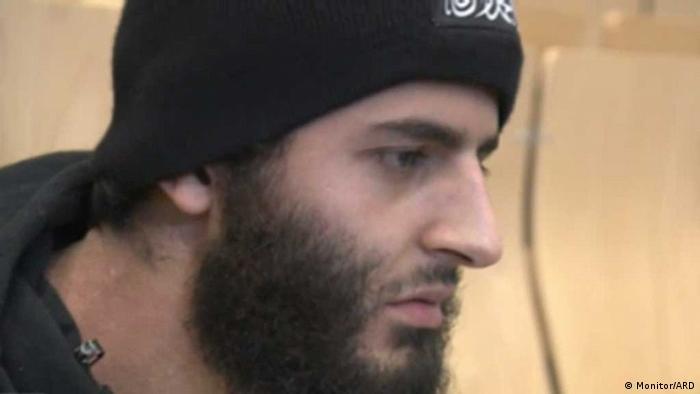 Salafist Erhan A. aus Kempten (Foto: Monitor/ARD)