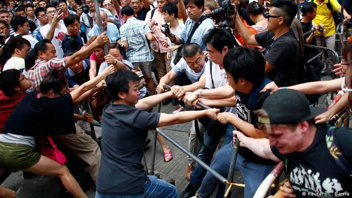 Proteste in Hongkong 04.10.2014