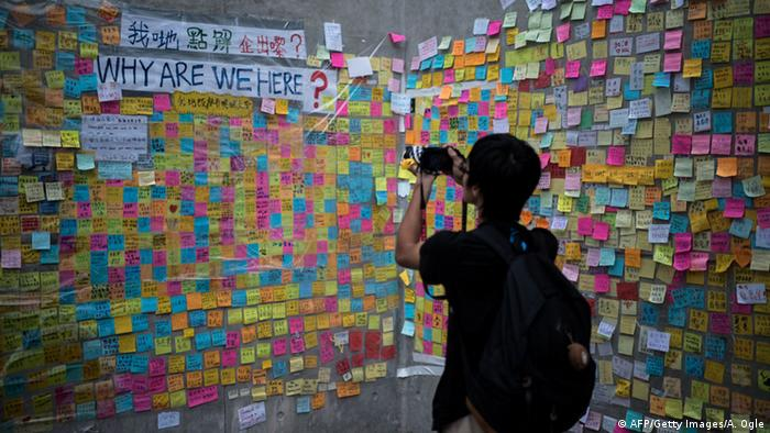 Proteste in Hongkong 04.10.2014