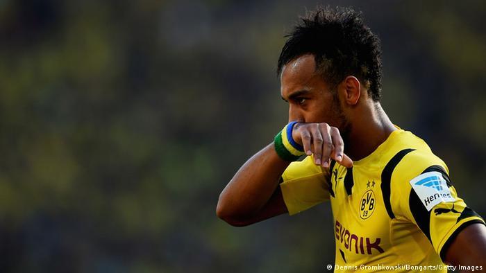 Bundesliga Dortmund vs Hamburg 04.10.2014 Aubameyang