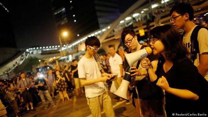 Proteste in Hongkong 05.10.2014