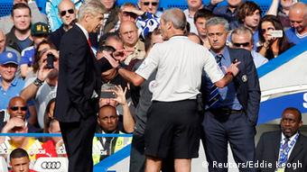 Wenger and Mourinho have had heated moments