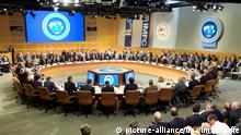 epa02932769 A handout photo provided by the International Monetary Fund of International Monetary and Financial Committee (IMFC) shows members meeting at the International Monetary Fund Headquarters in Washington, DC., USA, 24 September 2011. At separate press conferences at the IMF headquarters in Washington DC, the chiefs of the international financial institutions called on Europe, the US and Japan to address their economic shortcomings before they become bigger problems for the rest of the world. EPA/IMF/STEPHEN JAFFE HANDOUT EDITORIAL USE ONLY/NO SALES