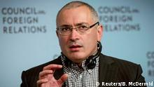 Former Russian tycoon Mikhail Khodorkovsky speaks about his Open Russia movement at the Council on Foreign Relations in New York October 6, 2014. REUTERS/Brendan McDermid (UNITED STATES - Tags: BUSINESS POLITICS HEADSHOT)
