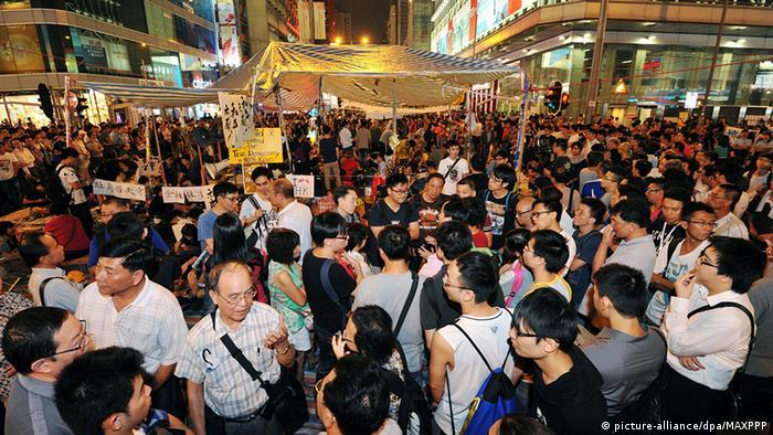 China Hongkong Demonstrationen Studenten und Regierung einig über Verhandlungen