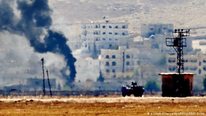 Kobane sub foc de artilerie