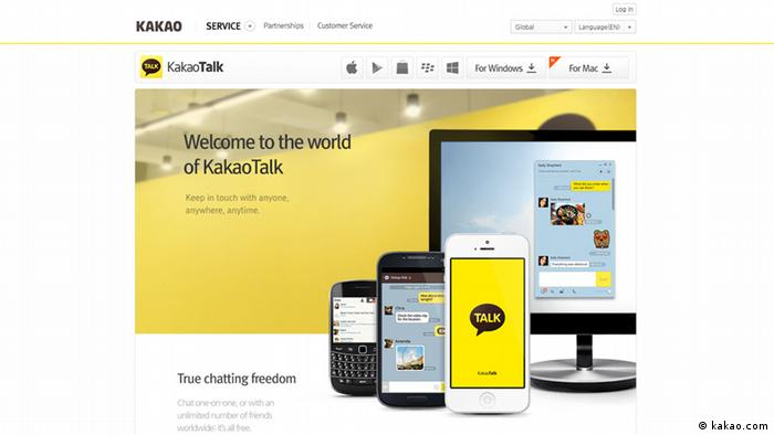 Screenshot der Website kakao.com/talk (kakao.com)