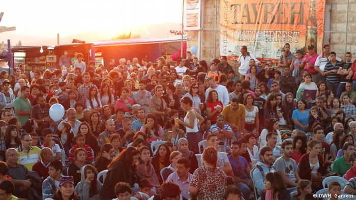 Festival de cervejas em Taybeh, em território palestino