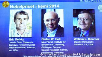 Nobelpreis 2014 Chemie Eric Betzig Stefan Hell William Moerner