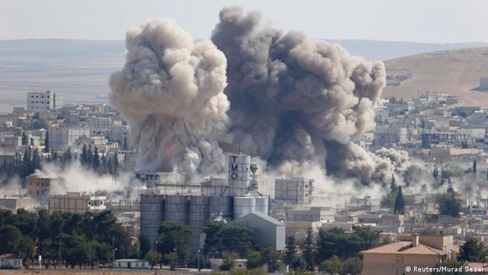 Syrien Kobane IS Terror Grenze Türkei 8. Oktober