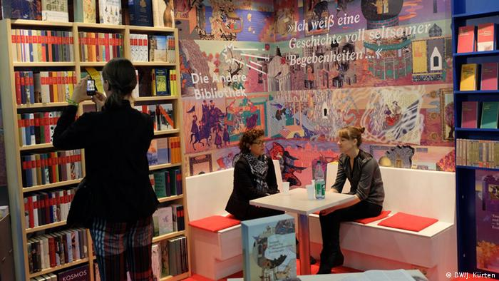 Стенд издательства Die Andere Bibliothek