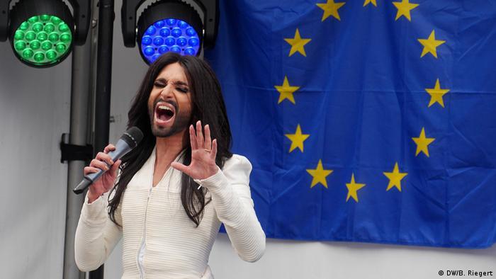Conchita Wurst at the EU Parliament