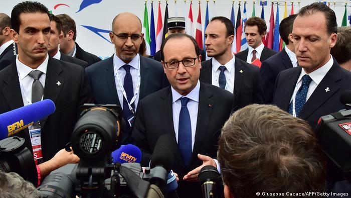 Italien EU Gipfeltreffen für Beschäftigung in Mailand - Francois Hollande