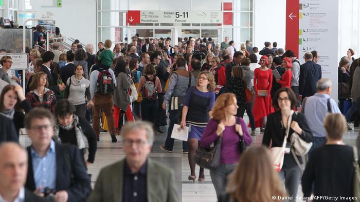 Besucher auf der Frankfurter Buchmesse