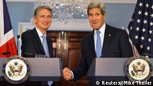 John Kerry und Philip Hammond