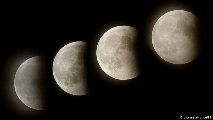 Mondfinsternis über Deutschland