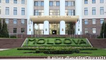 CHISINAU,MOLDOVA,07.AUG.14 - SOCCER - UEFA Europa League, qualifying, FC Zimbru Chisinau vs SV Groedig. Image shows the parlament of Moldova.