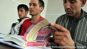 Участники курсов русского языка для мигрантов в Санкт-Петербурге