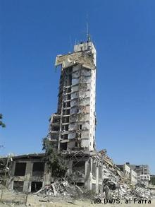 یکی از ساختمانهای غزه که هدف حملات ارتش اسرائیل قرار گرفت