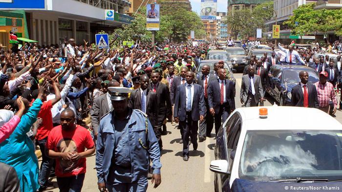 Uhuru Kenyatta Empfang in Kenia 9. Oktober