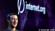 Indien USA Internet Facebook Gründer Mark Zuckerberg in New Delhi