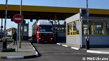 Deutscher Hilfskonvoi für die Ukraine Grenze Einfahrt