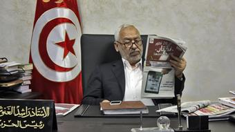 Rachid Ghannouchi, leader of the Islamist party En Nahda, which took the largest share of the vote in the elections to the Constituent Assembly in 2011.