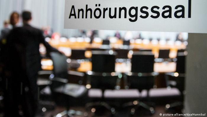NSA committee room in German parliament