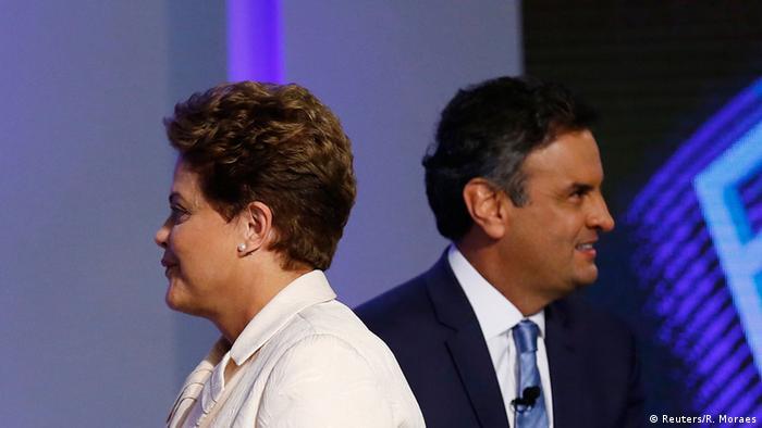 Brasilien TV-Debatte Präsidentschaftswahlen 02.10.2014 (Reuters/R. Moraes)