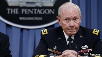 US-Generalstabschef Martin Dempsey bei einer PK im Pentagon