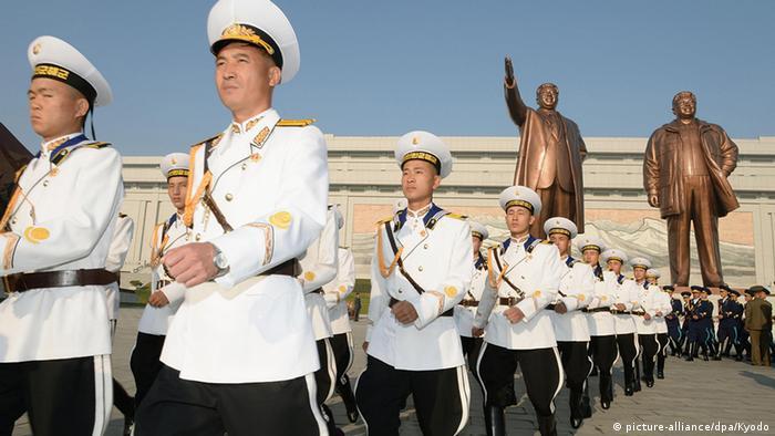 Nordkorea Gründungstag Parade in Pyongyang