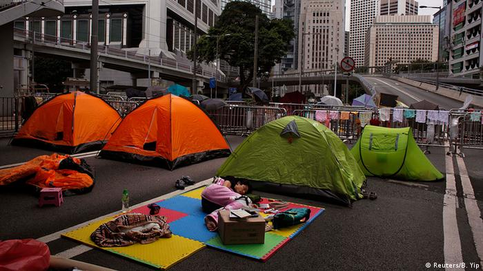 Zeltlager von Demonstranten in Hongkong (Foto: Reuters)