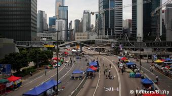 China Hongkong Demonstrationen Zeltlager