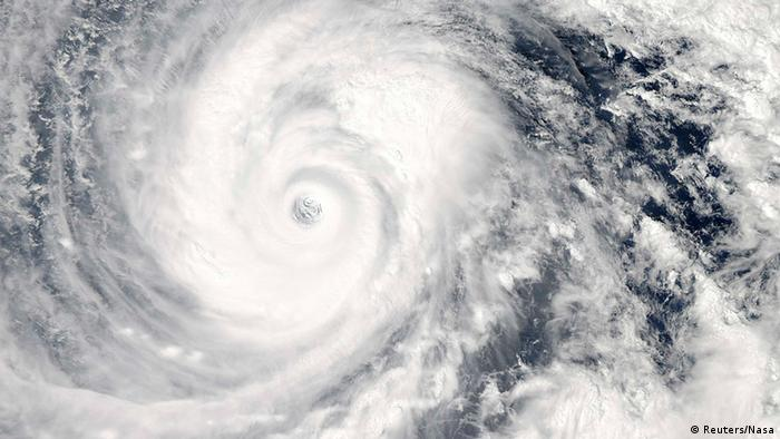Vongfong is seen in the Pacific Ocean as it approaches Japan's main islands on its northward journey, in this Moderate-Resolution Imaging Spectroradiometer (MODIS) image taken from NASA's Aqua satellite at 0425 GMT on October 9, 2014.