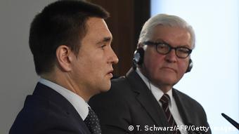 Deutschland Ukraine Außenminister Pavlo Klimkin bei Steinmeier in Berlin