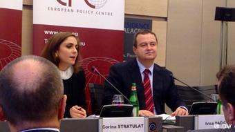 Ivica Dacic Außenminister Serbien EPS Konferenz Brüssel (DW)