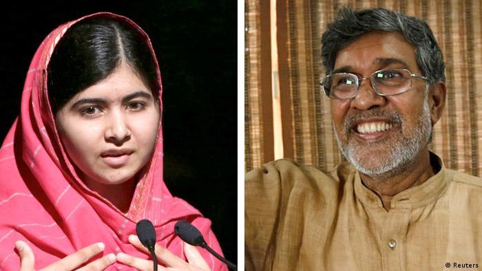 Малала Юсуфзай и Кайлаш Сатьяртхи, Нобелевские лауреаты мира 2014 года