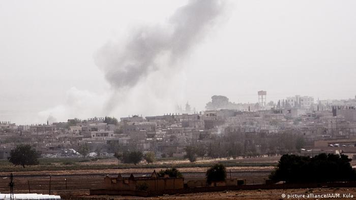 Blick auf das umkämpfte Kobane (Foto: rtr)