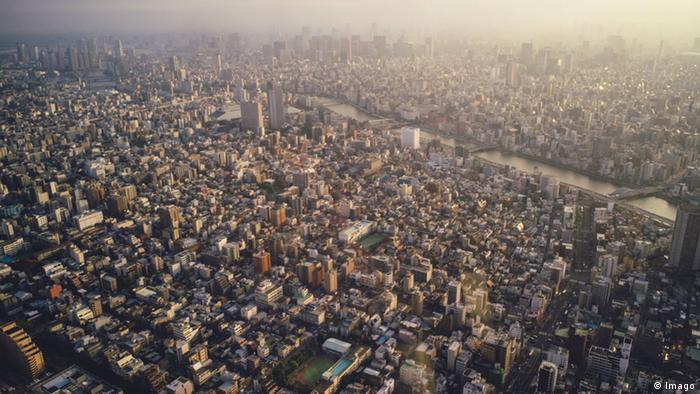 Tokyo seen from the air