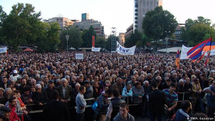 Митинг оппозиции в Ереване 10.10.2014